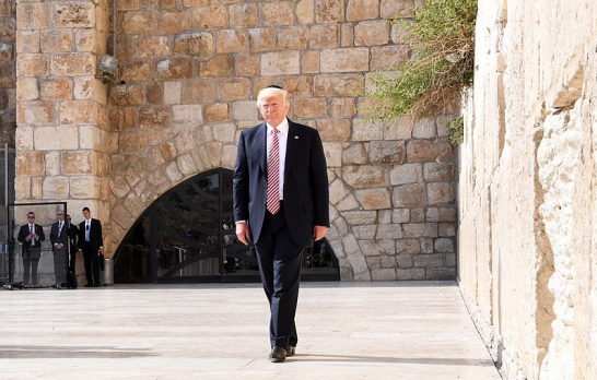 President Trump at the Western Wall in Jerusalem, Israel