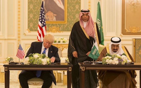 President Trump and Saudi King Salman sign a Joint Strategic Vision Statement